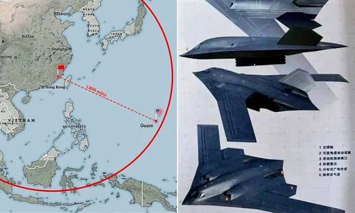 Новый самолет Китая может долететь до США, и последние не могли не обратить на это внимания. /Фото: dailymail.co.uk
