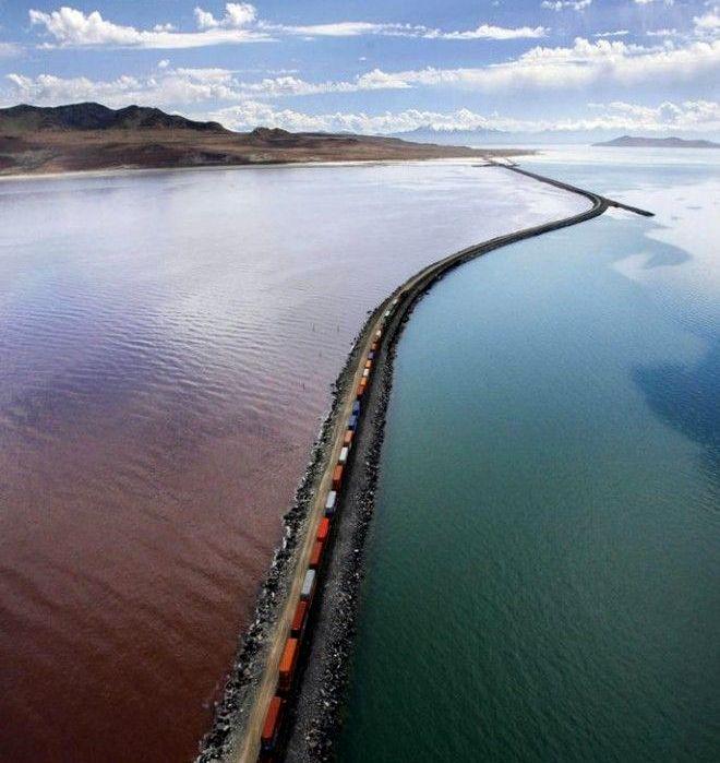 Когда нет железнодорожного моста, дамба тоже подойдет. /Фото: ochmanity.com