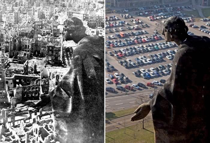 Вид с одного ракурса на одну территорию, но в разном времени - некоторые районы изменились кардинально. /Фото: insider.com