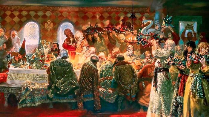 В 12 веке пиры обзавелись новыми блюдами. /Фото: rbth.com