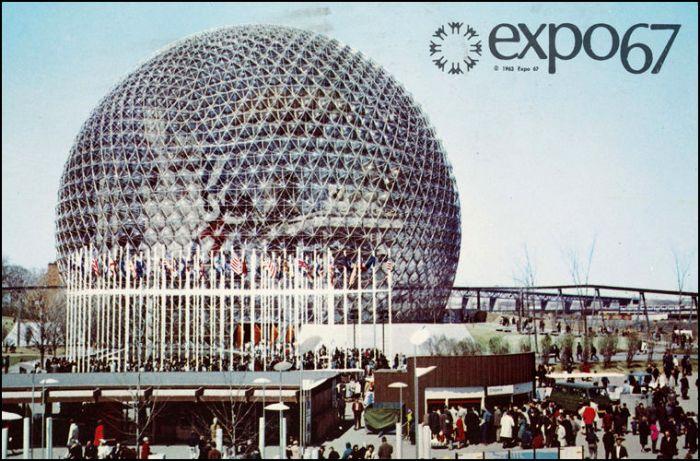 Проект купола над городов на на Всемирной выставке в Монреале. /Фото: moya-planeta.ru