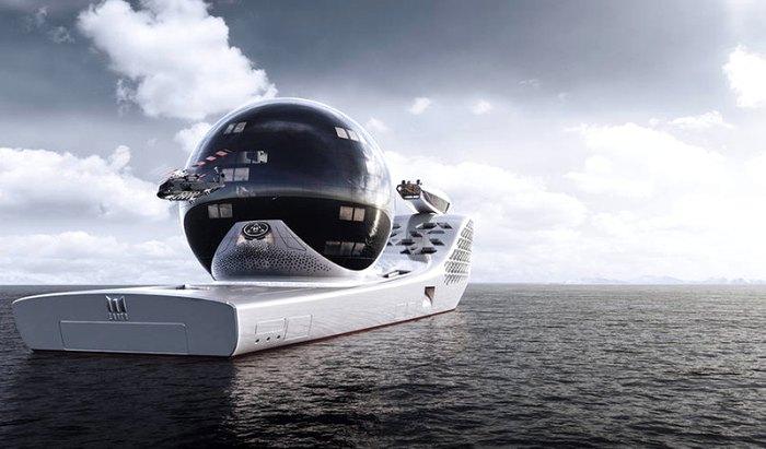 Вертолет будет сопровождать яхту и помогать в исследованиях. /Фото: robb.report