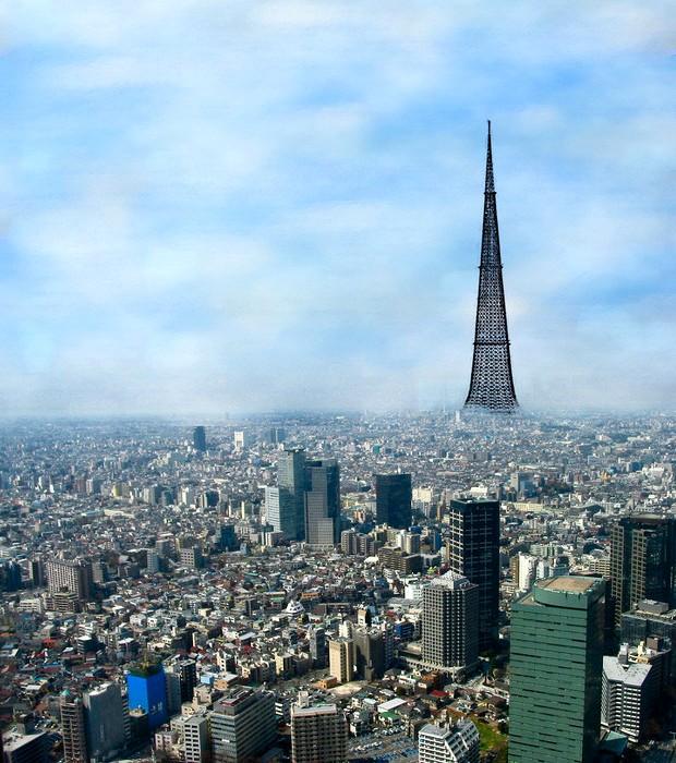 Проект четырехкилометрового небоскреба для японцев от советских разработчиков. /Фото: maximonline.ru
