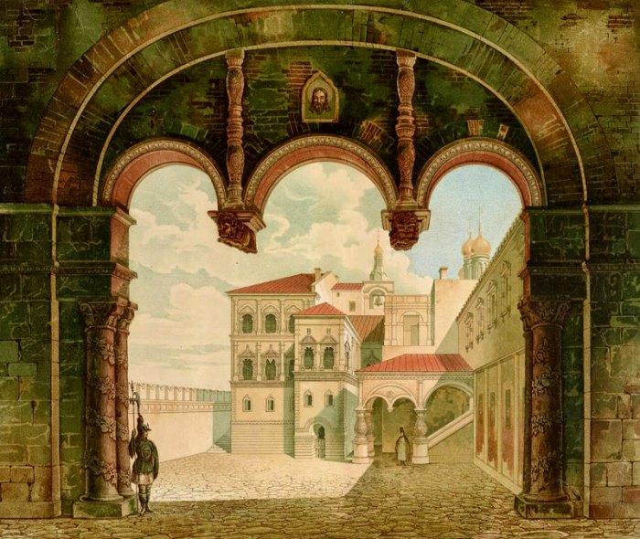 Львиные ворота, акварельное изображение 19 века. /Фото: diletant.media