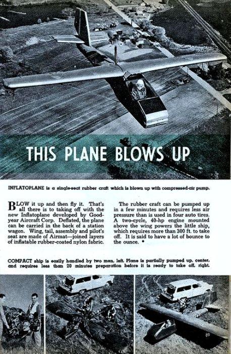 Инфлатоплан даже старались популяризовать. /Фото: pinterest.com