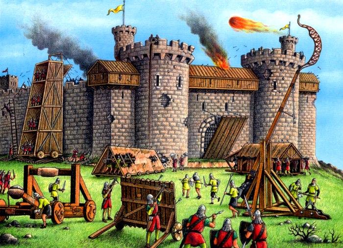 Не все так красочно в осаде средневековой крепости, как это обычно показывают. /Фото: tes.com