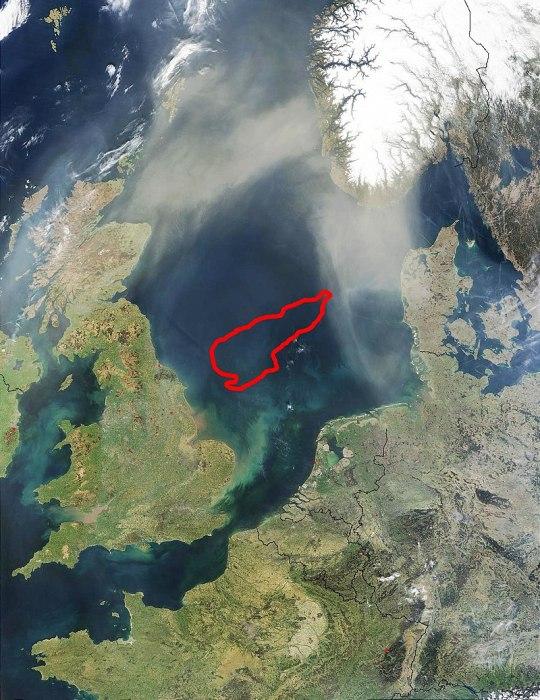 Очертания морены над Доггерлендом. /Фото: wikipedia.org