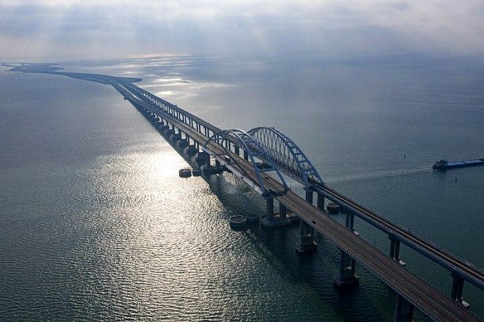 Крымский мост смогли возродить только несколько лет назад. /Фото: wikipedia.org