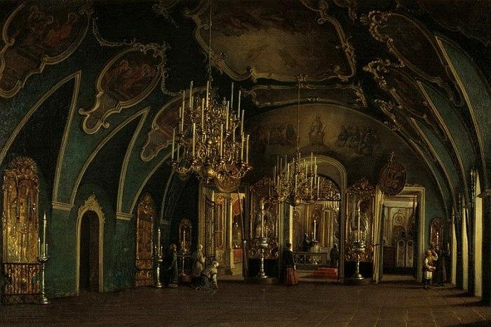 Внутреннее убранство Алексеевской церкви Чудова монастыря. /Фото: wikipedia.org