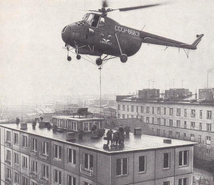 Вертолет Ми-4 над домом, собранным наоборот. /Фото: wikimapia.org