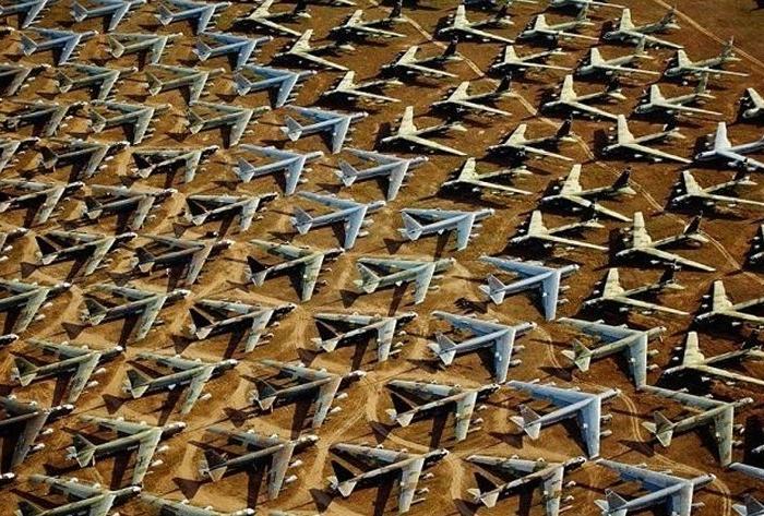 Место, где собраны тысячи самолетов. /Фото: fishki.net