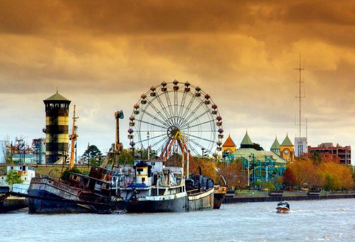 Аргентинский город на воде. /Фото: pinterest.de