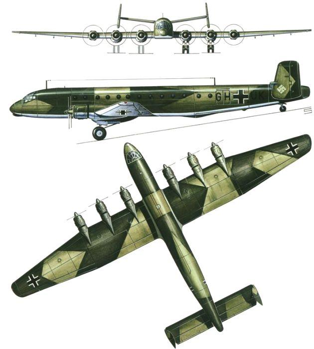 Общий вид немецкого бомбардировщика в разных ракурсах. /Фото: pinterest.de