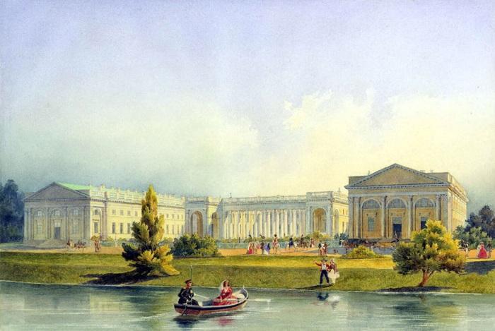 Александровский дворец в середине 19 века. /Фото: tumblr.com