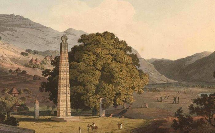 Огромные монолиты таинственной эфиопской цивилизации древности. /Фото: pinterest.de