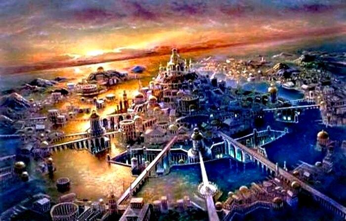 Атлантида в реальности - лишь красивый миф. /Фото: pinterest.com