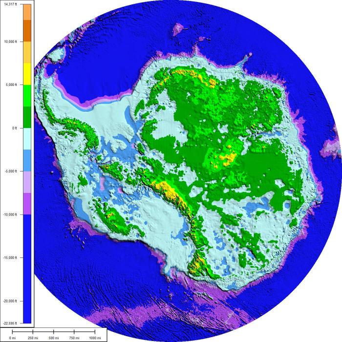 Антарктида продолжает хранить секреты от всех. Кроме картографов. /Фото: uk.ikscience.com