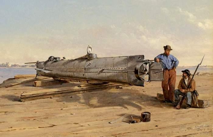 У конфедератов лодка была одна, и та оказалась бесполезной. /Фото: nationalinterest.org