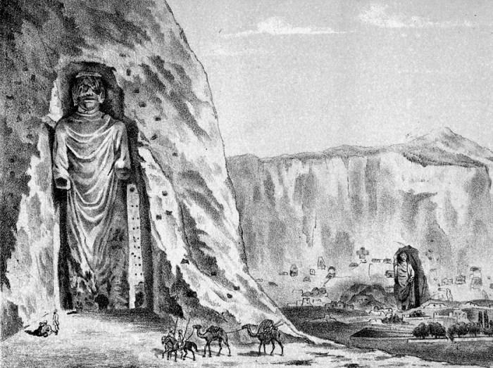 Изображение Баманских статуй Будды, 1885 год. /Фото: art-moiseeva.ru