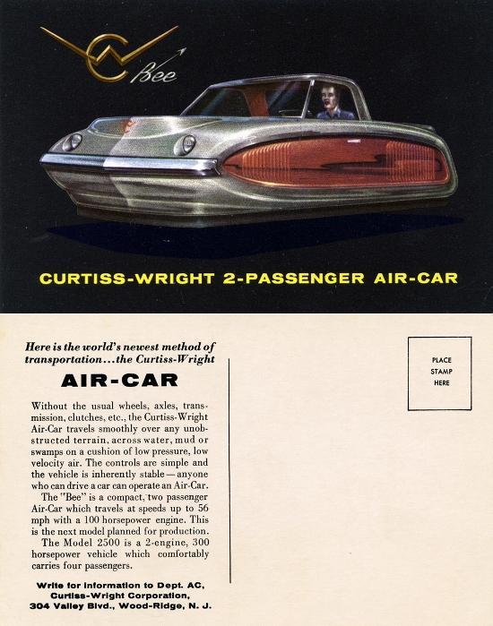 Концепт гражданского автомобиля Curtiss-Wright Model 2500 Air Car Bee. /Фото: carstyling.ru