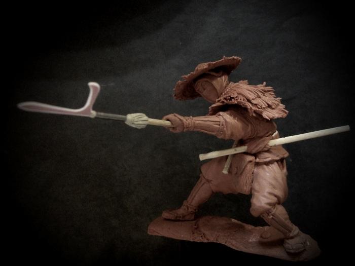 Современное моделирование самурая с . /Фото: modelsculpt.org