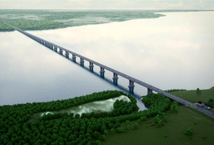 Концепт-арт Климовского моста через Волгу. /Фото: tlt.ru