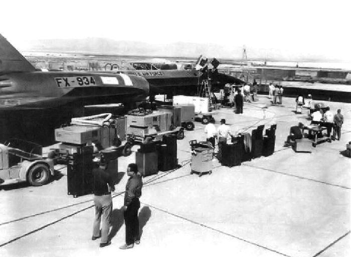 Аэродром в зоне 51, 1970-е годы. /Фото: wikimedia.org
