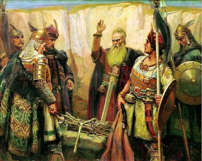 Картина Д. Гюдженова «Кубрат и его сыновья», 1926 год. /Фото: wikipedia.org