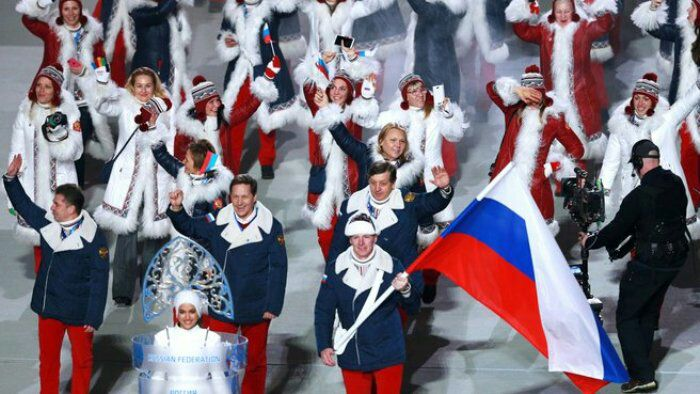 Российская делегация на открытии Олимпийских игр в Сочи. /Фото: regnum.ru