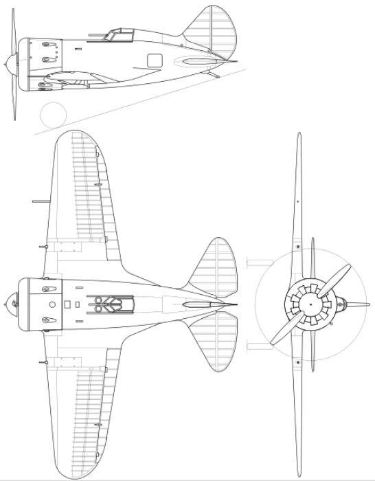 Проекции И-16, тип 5. /Фото: wikipedia.org