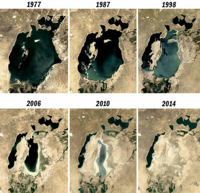 Проект не реализовали, а судьба Аральского моря - печальна. /Фото: pikabu.ru
