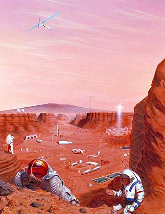 Пока и Марс остаётся мечтой для человечества. /Фото: wikipedia.org