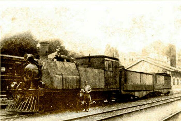 Бронепоезд в Астурии, 1934 год. /Фото: naukatehnika.com