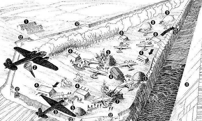 Панорама высадки десанта на форт. /Фото: pikabu.ru