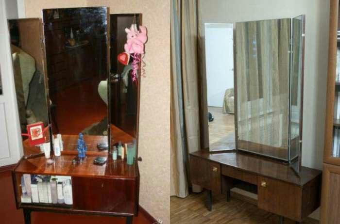 Трюмо с тремя зеркалами. /Фото: fablosa.ru