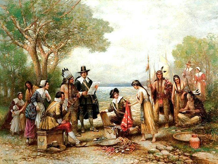 Торговля колонистов с индейцами развивалась активно и масштабно. /Фото history-doc.ru