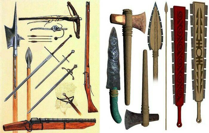 В отличие от европейцев, индейцы пользовались оружием из камня и дерева. /Фото: topwar.ru