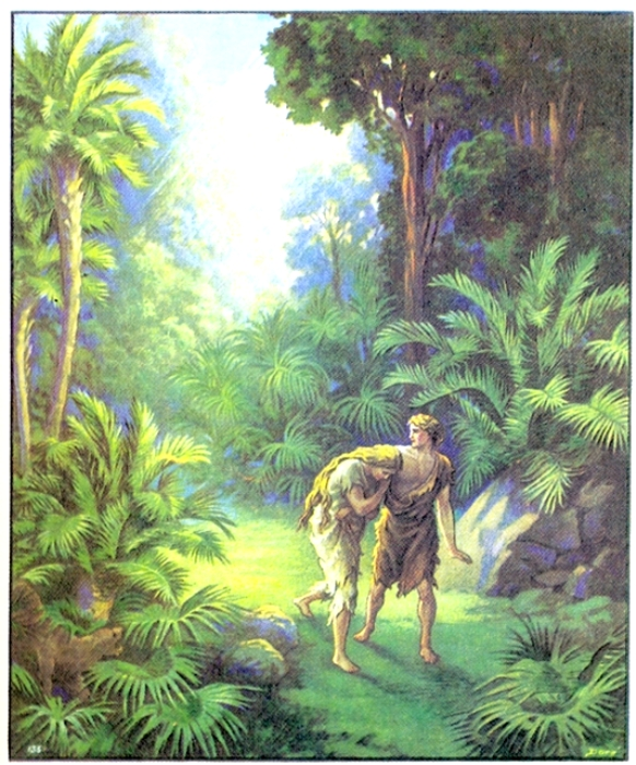 Адама и Еву из рая изгнали, но не факт, что из-за яблока. /Фото: narod.ru