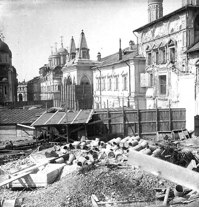 Снос Чудного монастыря, 1929 год. /Фото: kommersant.ru