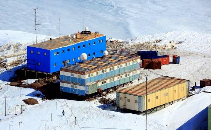 Российская антарктическая станция Мирный. /Фото: патриотам.рф