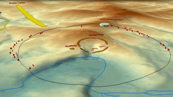 Цифровая модель найденного кольца рядом со Стоунхенджем. /Фото: bbc.com