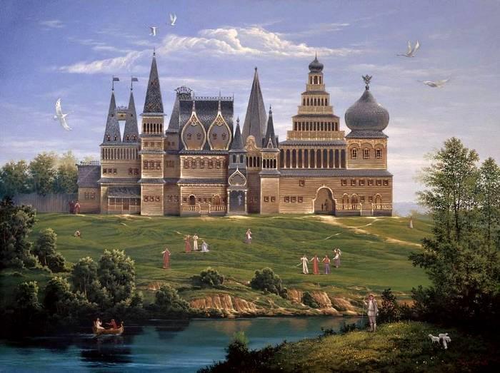 Изображение оригинального дворца в Коломенском, 18 столетие. /Фото: moscovery.com