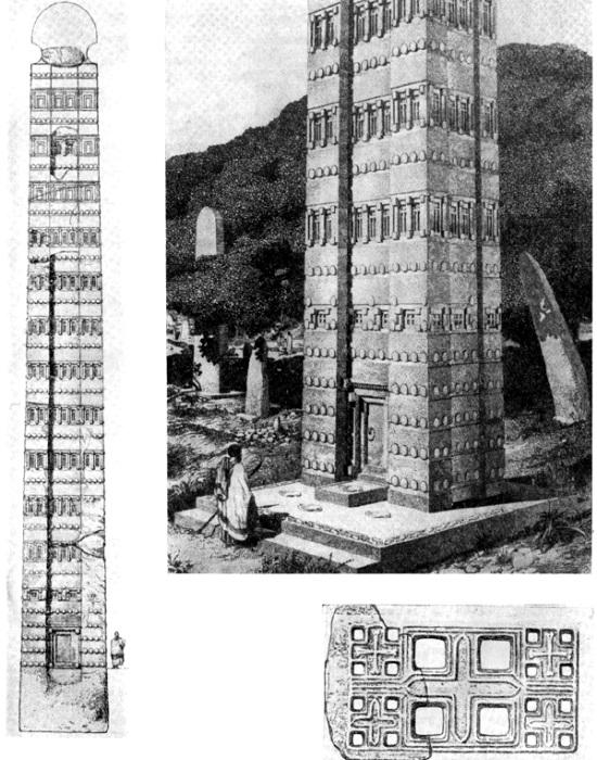 Реконструкция самой высокой стелы. /Фото: archaic.totalarch.com