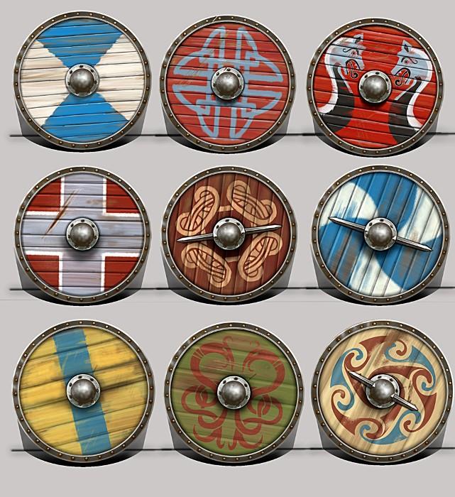 Щиты викингов могли быть одними из прародителей баклера. /Фото: artstation.com