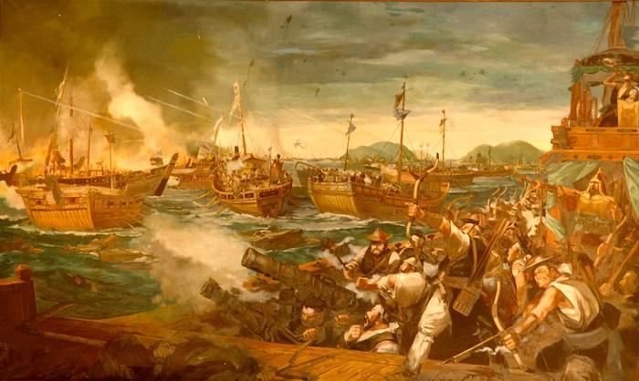 В самых горячих морских боях в средневековой Азии принимали участие настоящие плавучие танки. /Фото: incredible.egloos.com