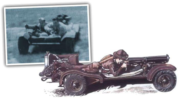 Самая странная разведывательная машина. /Фото: blogspot.com
