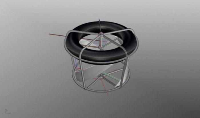 Компьютерная модель конструкции мобильной ГЭС. /Фото: popmech.ru