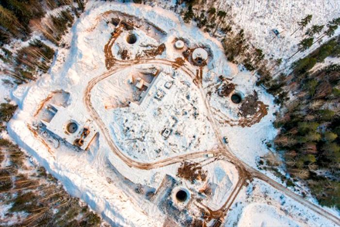 Вид сверху на комплекс ракетной шахты «Двина». /Фото: lenta.ru