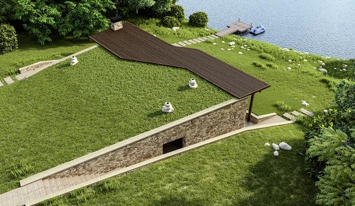 Вместо газона на крыше можно развести настоящий огород. /Фото: fedoristov.com