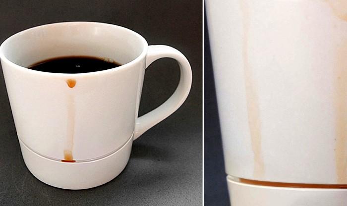 Чашка, которая защитит стол от нежелательных капель кофе. /Фото: didyasee.com
